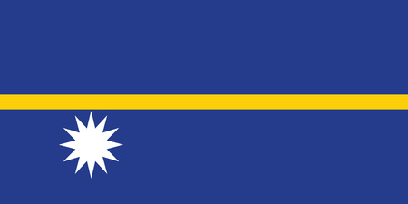 nauru: Nauru national flag. Vector illustration of Nauru flag Illustration