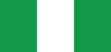 country nigeria: Flag of Nigeria, national country symbol illustration. Vector illustration Illustration