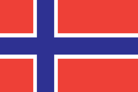 norway flag: Flag of the Kingdom of Norway. Vector illustration of Norway Flag