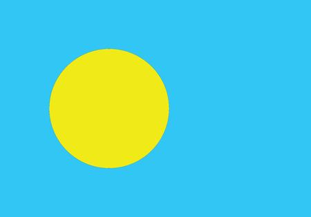 palau: Illustration of the flag of Palau.Vector illustration of Palau flag Illustration