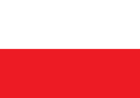poland flag: Flag of Poland, national country symbol illustration. Vector illustration of Poland flag Illustration