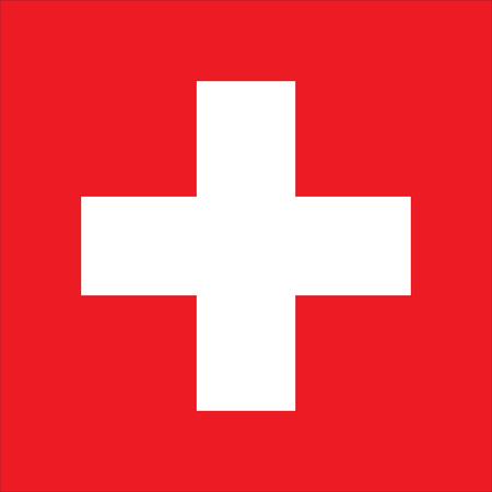 Flag of Switzerland. Vector illustration of Swiss flag Illustration
