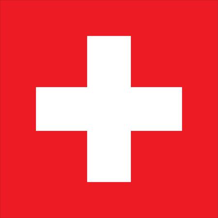 Flag of Switzerland. Vector illustration of Swiss flag Stock Illustratie