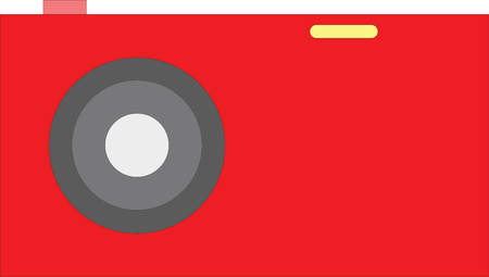 illustratin: Old red Photo camera symbol, vector illustratin