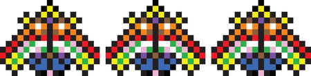 romanian: Colored pixel pattern inspired by Romanian traditional motifs