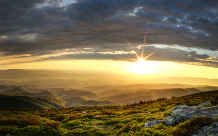 Majestic sunset over the Little Mountain Peak.