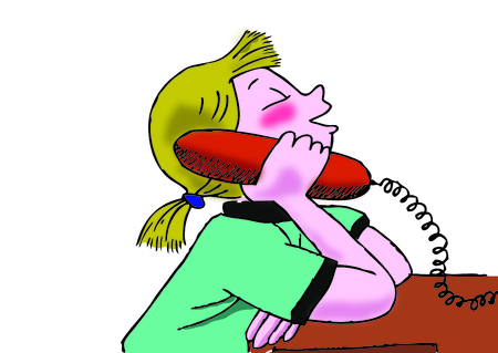 talking: Girl talking on the phone
