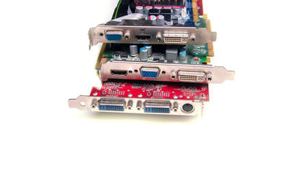 Electronics, industry, Board module, white background electronic component for different devices, copy space, isolated