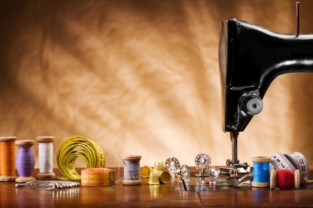 copy space image of sewing tools Stock Photo - 11455042