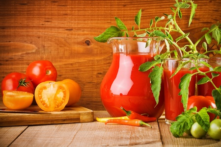 juice of tomatoes photo