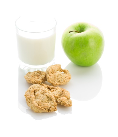 apple cookies and milk photo