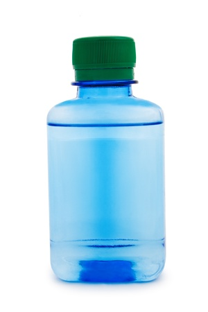 chemic: Blue bottle with a chemical liquid