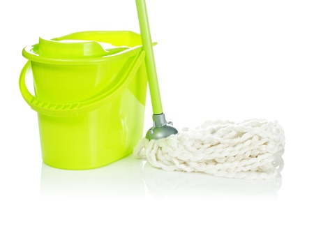 mops: bucket with mop