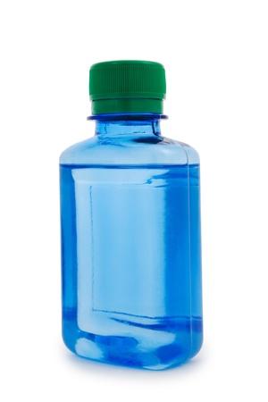 chemic: isolated blue bottle hemical Stock Photo