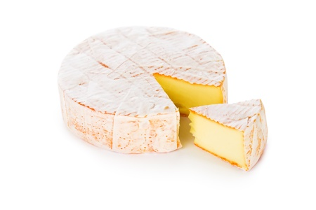 wholes: Cheese with a white mould