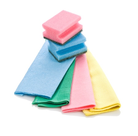 rags: cleaning rags and sponge