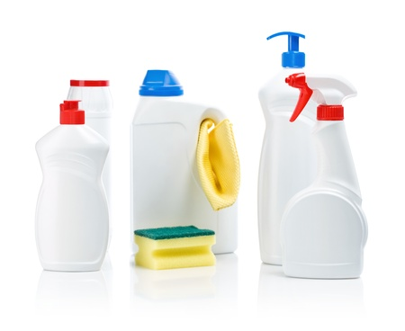 accesories: composition of cleaning accesories Stock Photo