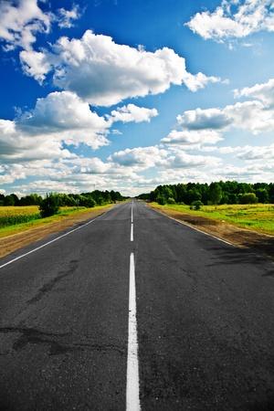 carretera: camino de colores Foto de archivo