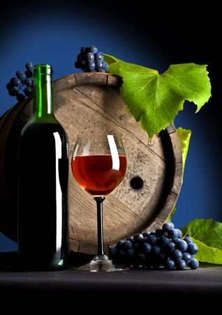 Composition from grapes and red wine Stock Photo - 11503381