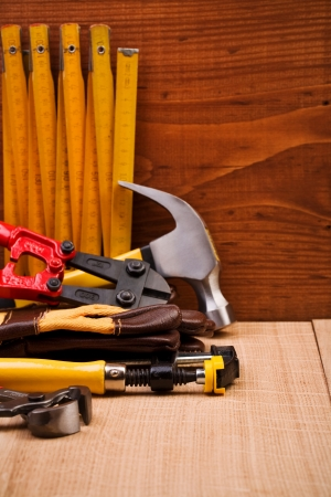 copy space working tools Stock Photo - 11505889