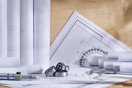 tools and drawings Imagens
