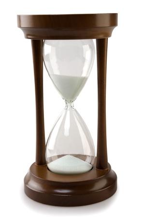 wood hourglass isolated Stock Photo