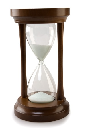wood hourglass isolated Stok Fotoğraf