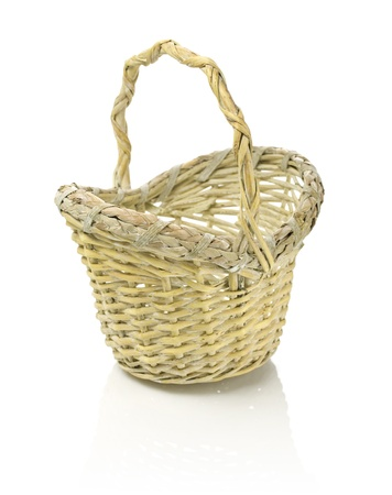 bast basket: Bast basket Stock Photo