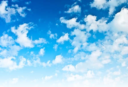 sparce: brightly blue sky with sparce clouds Stock Photo