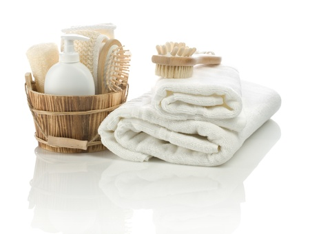 group of bathing accessories photo