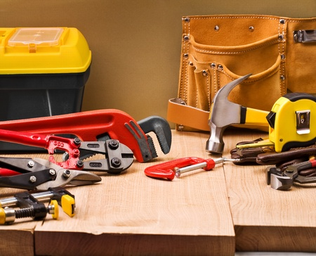 home improvement store: heavy duty hand tool Stock Photo