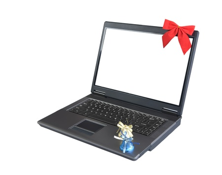 laptop and christmas elements Stock Photo - 11507155