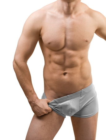 male torso isolated photo