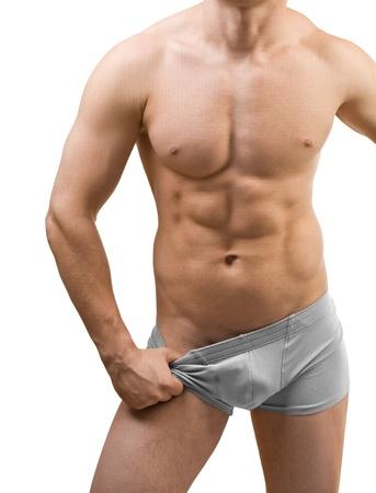 male torso isolated photo