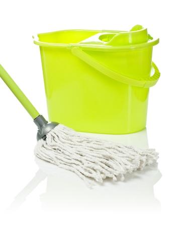 mop: mop and bucket