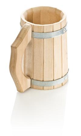 bathe mug: one wooden mug