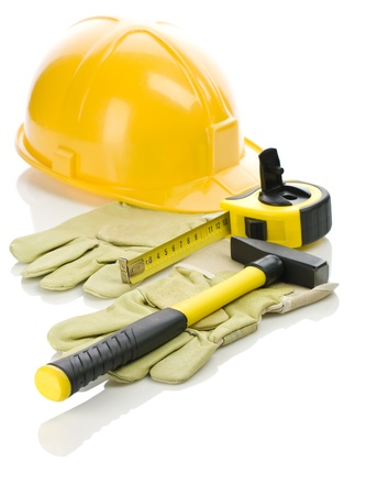 building tools on gloves photo