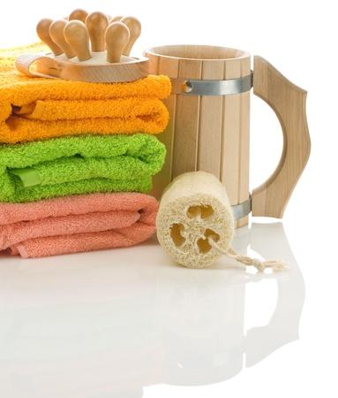 bathe mug: set for bathing isolated
