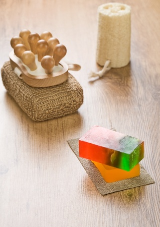 set of objects for bathing photo