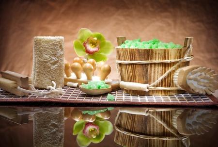 set of sauna accessories photo