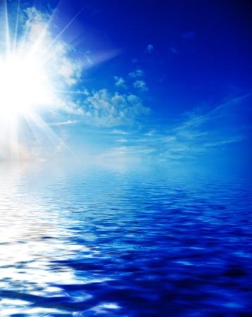 sky and ocean photo