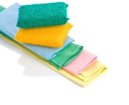 rags: sponges on rags