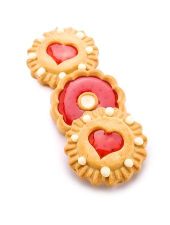 three cookies isolated photo