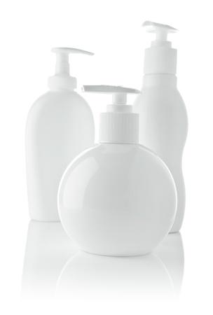 basic care: three white spray bottles