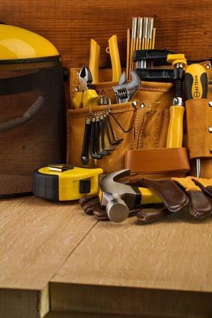 suede belt: working tools