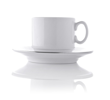 plainness: white ceramic cup on saucer