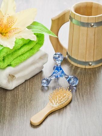 bathe mug: accessories for bathing Stock Photo