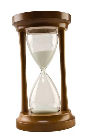 reloj de arena: marr�n arena para vidrio aislado