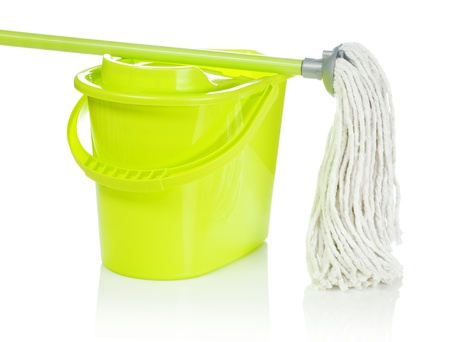 cleaning equipment: bucket with mop on it