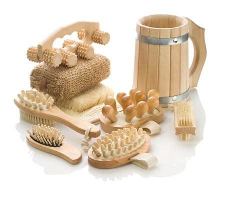 bathe mug: composition for bathing Stock Photo